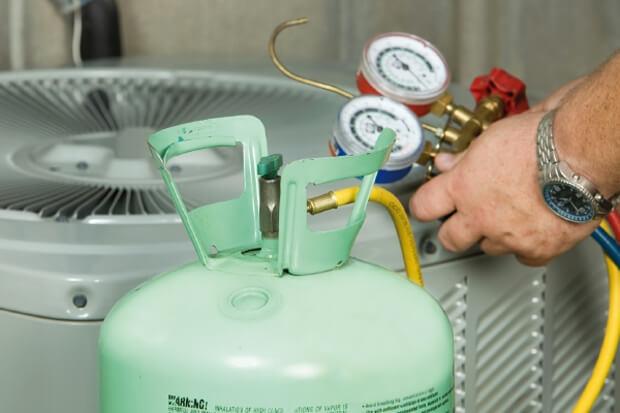 Manipulación de gases fluorados